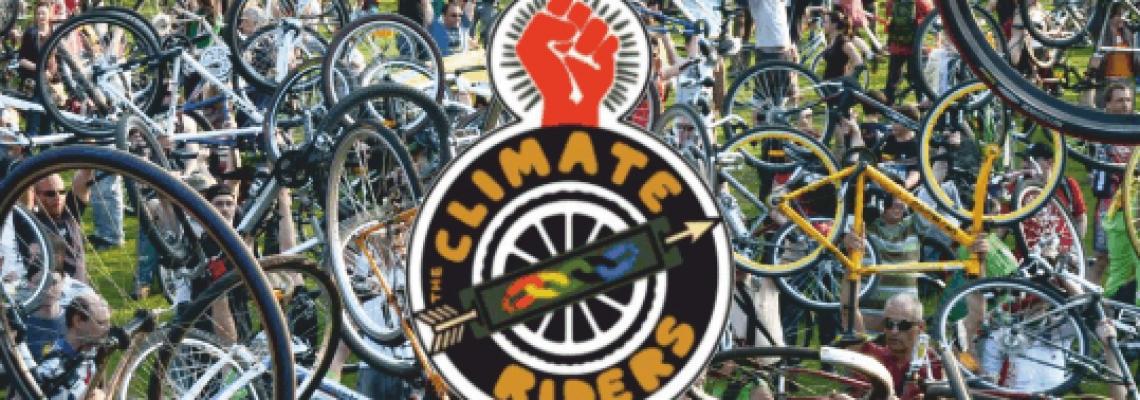 The Climate Riders. Pedala. Suda. Guarda. Pensa. Vivi. Sogna. Sollevati.