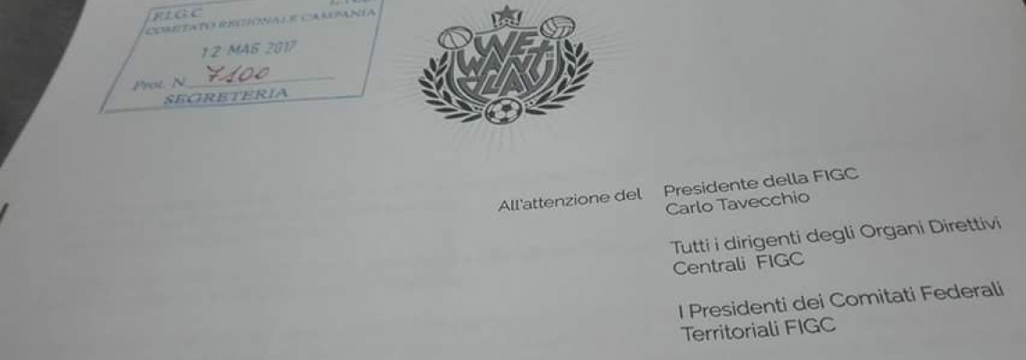 We Want To Play consegnato al comitato regionale FIGC Napoli